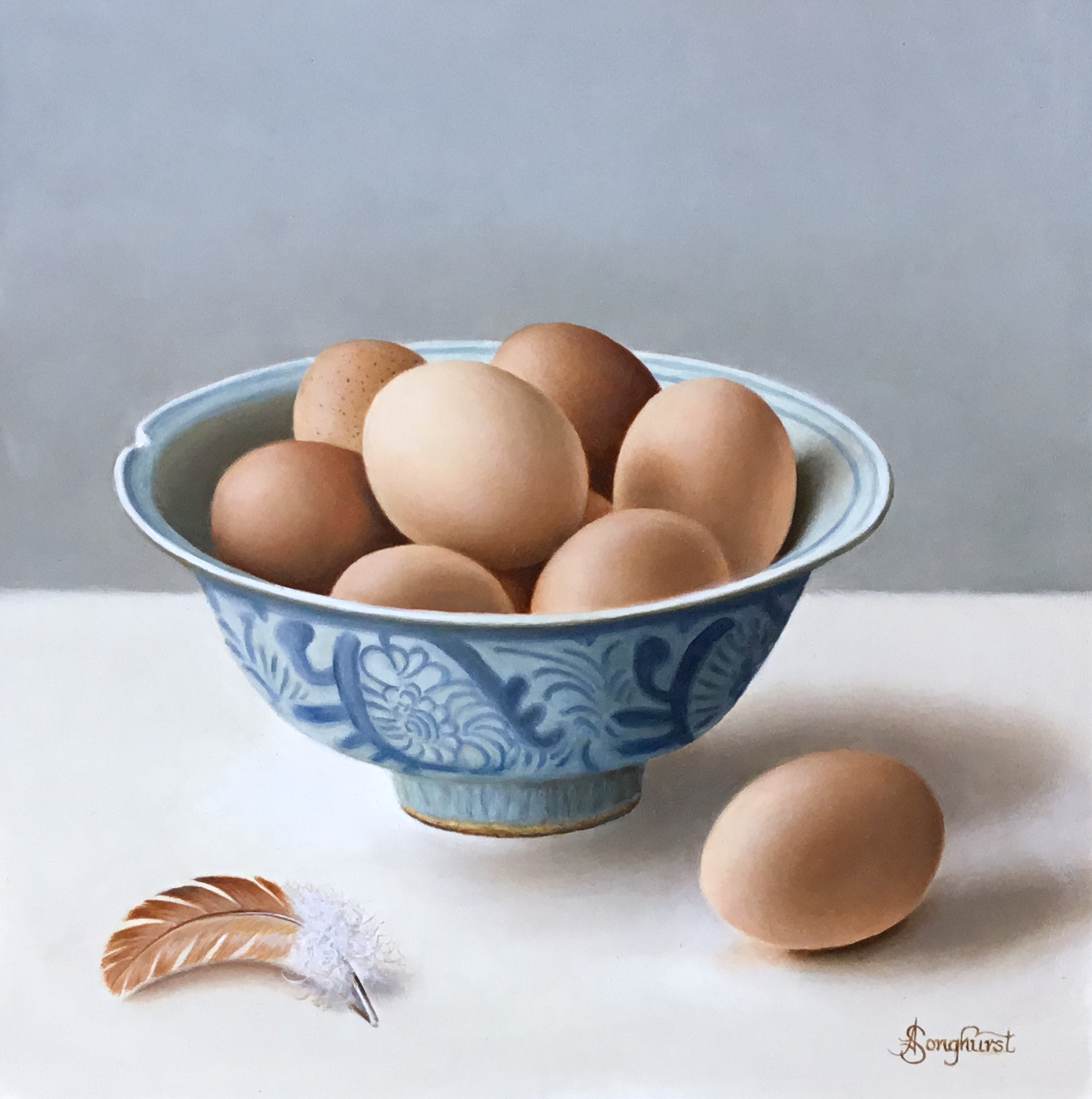 Ming Bowl with Eggs by Anne Songhurst