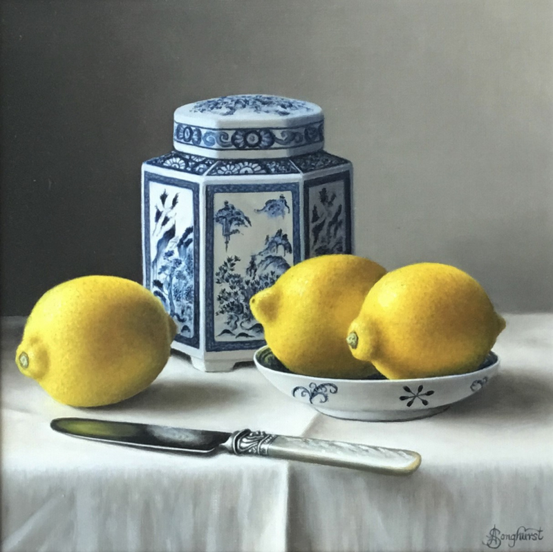 Chinese Caddy with Lemons by Anne Songhurst