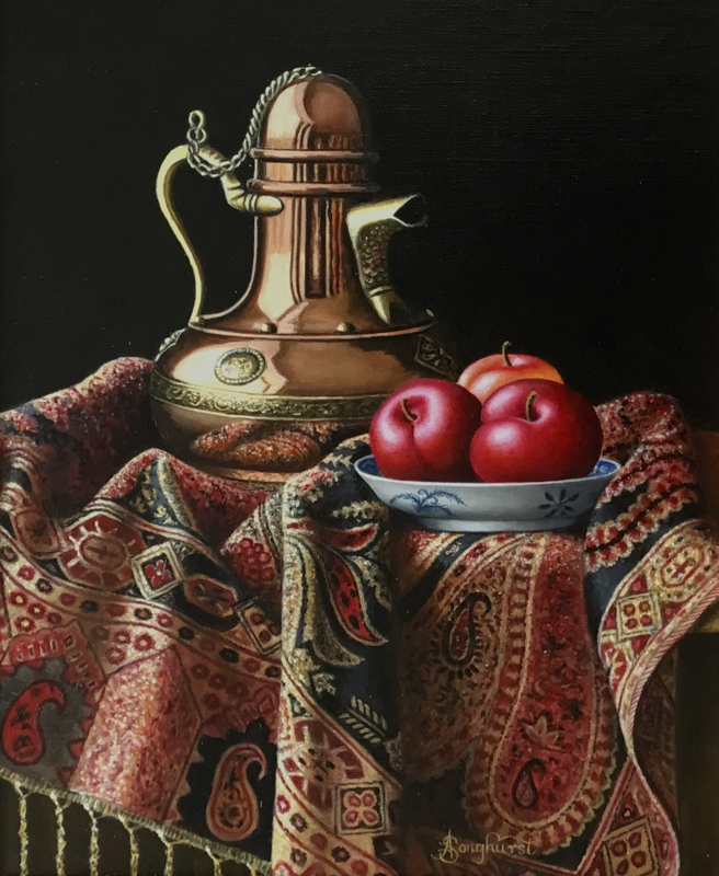 Copper Pot with Plums by Anne Songhurst