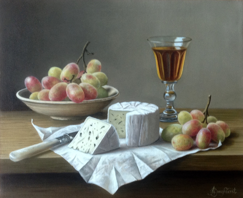 Cheese and Grapes 10x12 by Anne Songhurst