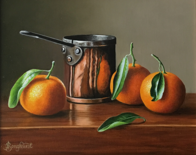 Copper Pan with Clementines 8x10 by Anne Songhurst