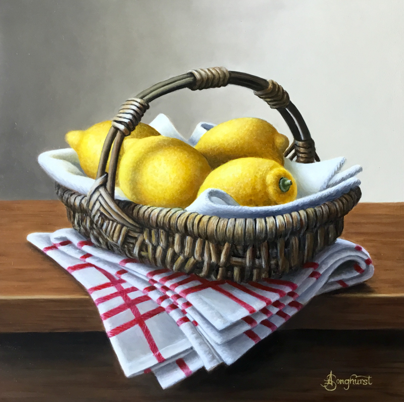 Basket with Lemons by Anne Songhurst