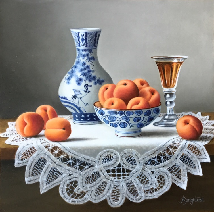 Chinese Porcelain with Apricots  by Anne Songhurst